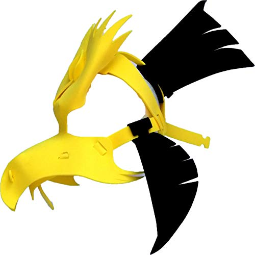 Hawk Mask - Light, Comfortable, and Adjustable to any Size - Black & Yellow ()