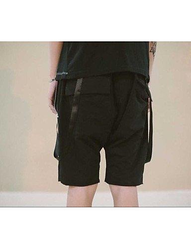 Men Pants Herren Einfach Mittlere Hüfthöhe Mikro-elastisch Kurze Hosen Lose Hose einfarbig