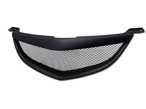 Black Aluminum Mesh Style Front Hood Bumper Grill Grille Abs 04-06 Mazda 3 4D/4Dr Sedan Model