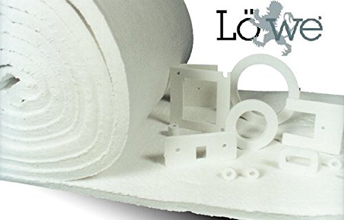 8# Density, 2300/°F Ceramic Fiber Insulation Blanket Roll 2 x 24 x 50 Lowe Industrial Premium Quality Ceramic Fiber Insulation Roll Perfect For Any High Temperature Environment!