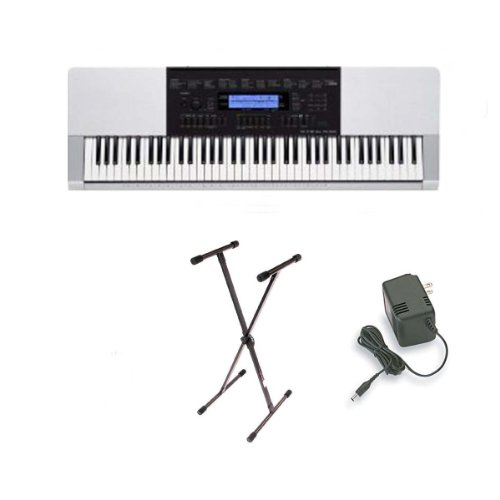 Casio WK-220 76-Key Personal Keyboard with USB Connection and 152 Songs + Stand + Ac Adapter