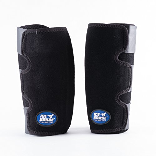 Ice Horse Pair of Knee Wraps for Equine Therapy - Comes with 6 Ice Packs by Ice Horse