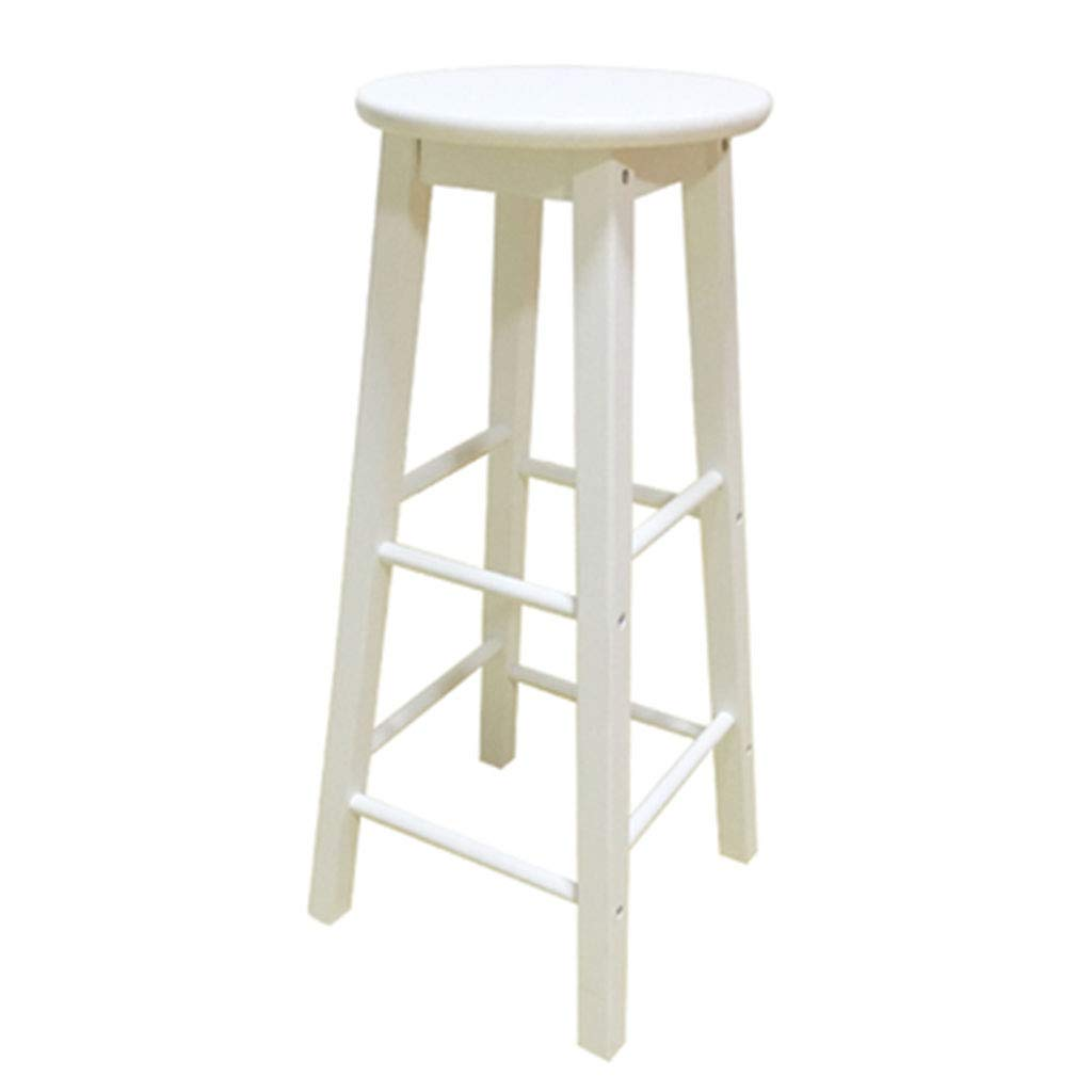 White Stool Winsome Solid Wood Bar Chair Simple Bar Stool European Bar Stool Retro High Stools Front Bar Clothing Store Photo High 70cm (color   White)