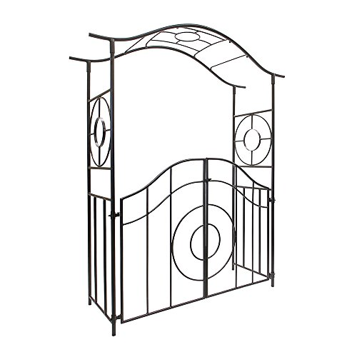 Achla Designs Tuscany Arbor Garden Arch with Gate