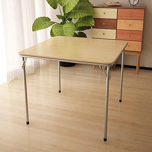 CWJ Tabla- Mesa de Juego de Tarjeta Bridge estándar, Estructura metálica, Color Negro/Madera, 85 85 Dormitorio Individual...
