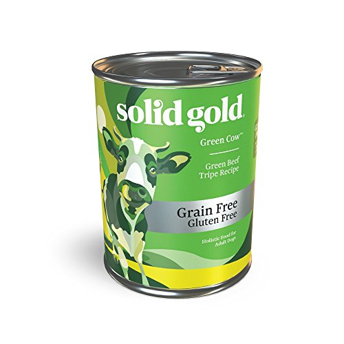 Solid Gold Beef Tripe & Broth Wet Dog Food for Sensitive and Picky Dogs; Green Cow Grain Free Meal or Topper; 12ct/13.2oz can