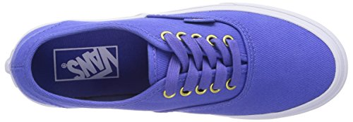 Vans U AUTHENTIC SLIM POP TWIL Unisex-Erwachsene Sneakers Blau ((Gold Pop) twil ES2)