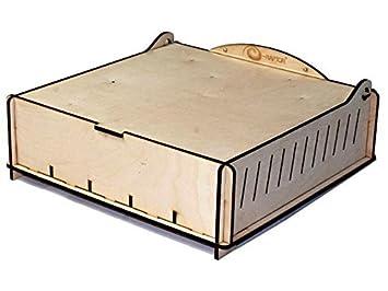 E-Raptor ERA93659 - Boardgame Cajas de Almacenamiento - Tarjeta de Comercio Caja de Almacenamiento - Madera, Juego de Cartas: Amazon.es: Juguetes y juegos