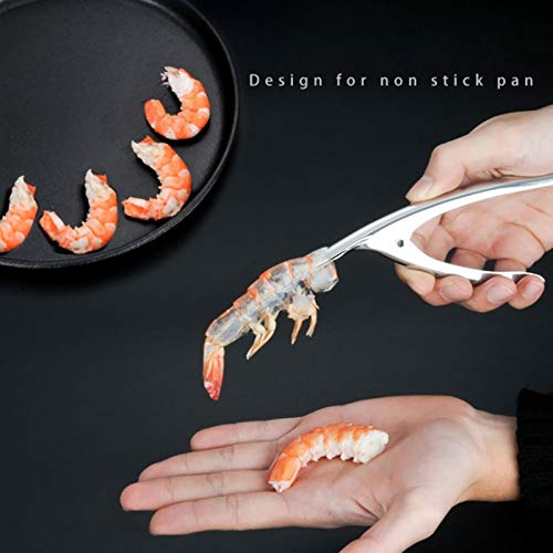 Seafood Tools - Shrimp Deveiners Shell Appliance Stainless Steel Peeler Seafood Cooking - Gift Steel Stainless Jean Nuts Tools Seafood Dubost Crab Cracker Fish Scaler Seafood Tool Shrimp Peel