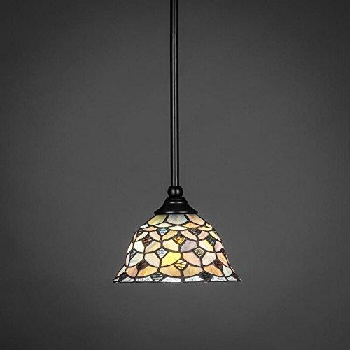 - Stem Mini Pendant with Crescent Glass Shade