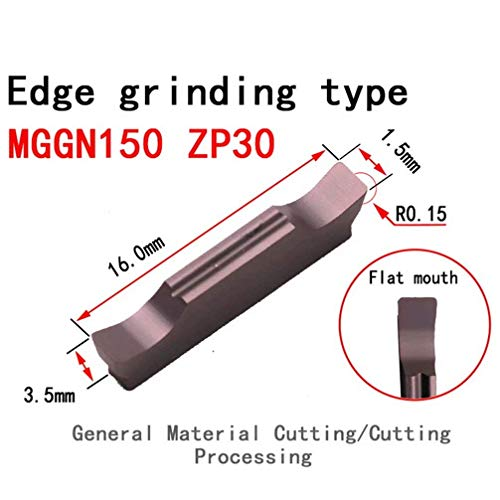 Maifix 10pcs MGGN MGMN ZP30 Stainless Steel Cutoff Grooving Finish Machining Indexable Solid Carbide Inserts