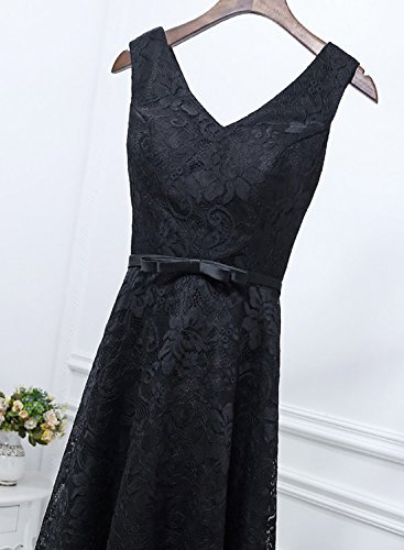 Elegant Spitze Linie LuckyShe V Lang A für Dunkelgrün Abiballkleider Hochzeit Damen Ausschnitt 2018 Ballkleid FqtxExwR6