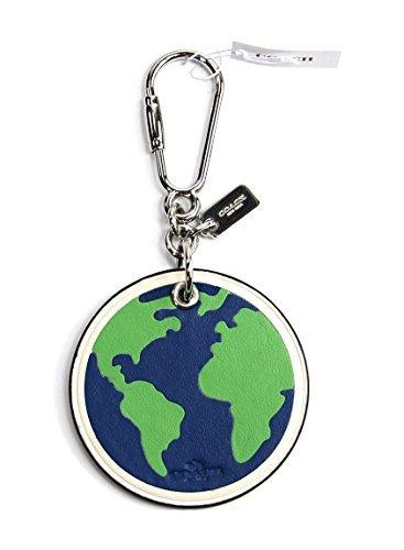 Coach 54912 Leather Globe Keychain Bag Charm