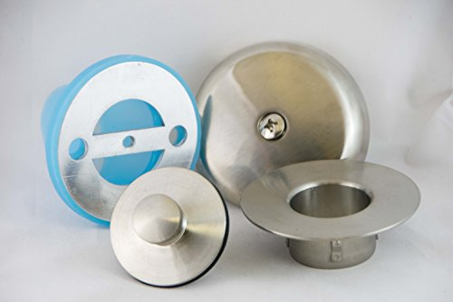 Leak-Proof Overflow Face Plate Gasket and Lift & Turn Drain Kit, Brushed Nickel