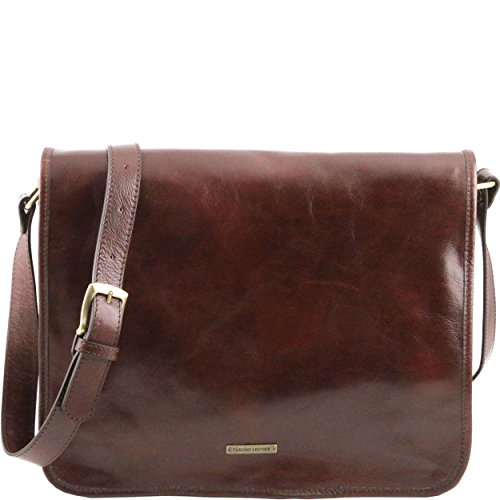 Tuscany Leather - Sac porté épaule cuir - Marron