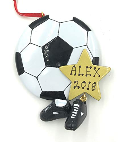 Personalized Sports Soccer Ball Christmas Ornament -Free Personalization