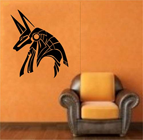 Okendre Vinyl Decal Quote Art Wall Sticker Egyptian God Anubis for Kids Rooms Boys Bedroom]()
