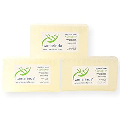 tamarinda Sulfate Free Unscented Glycerin Soap - Three, 4.25 oz. bars