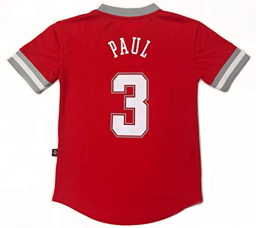 Outerstuff NBA Boys Youth 8-20 Short Sleeve Player Name & Number Performance Jersey (Youth Medium 10-12, Chris Paul Houston - Chris Paul Youth Jersey