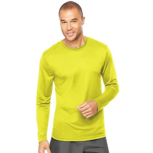 - Hanes Cool DRI'Performance mens Long-Sleeve T-Shirt,Safety Green,XXX-Large