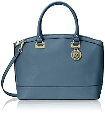 Anne Klein New Recruits Large Dome Satchel, Bay Blue: Handbags ...