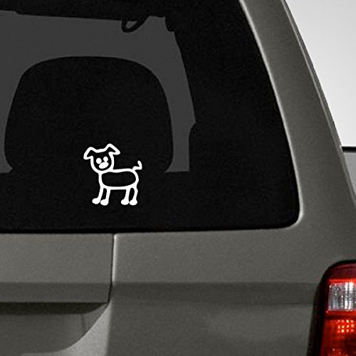 Stick Figure Dog - Titans unique design Pet Character for Stick Figure Family Car Decal, Dog, Die Cut Vinyl Decal for Windows, Cars, Trucks, Tool Box, Laptops, MacBook- Virtually Any Hard, Smooth Surface