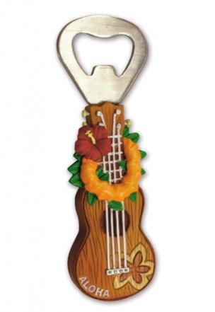 Hawaiian Ukulele Lei Bottle Opener with Magnet (Ukulele Lei)