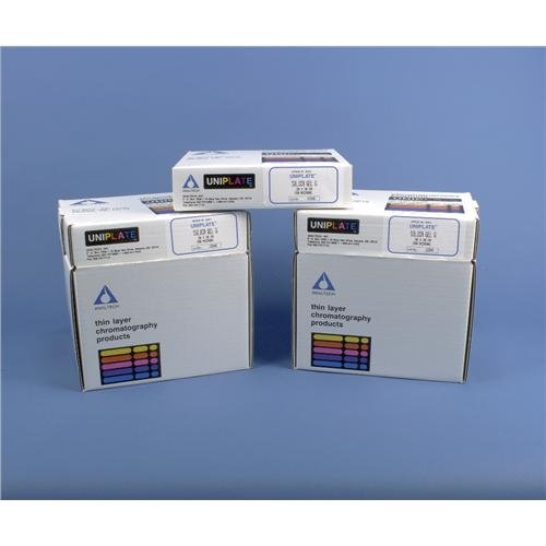 Image of TLC Plates Analtech P60077 HPTLC-HL with Preadsorbent Zone, 150 µm, 100 mm Width, 100 mm Length (Pack of 25)