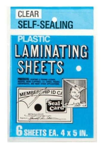 Seal Laminating Card - Seal-A-Card Plastic Clear Laminating Sheets