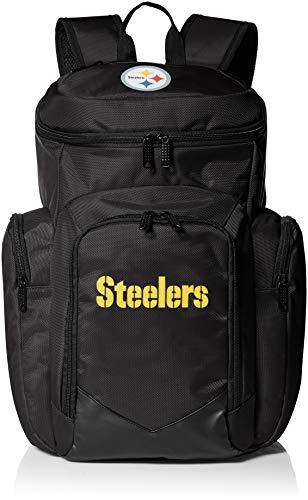 NFL Pittsburgh Steelers traveler Backpack One Size 1680 Denier Nylon Backpack, Black ()