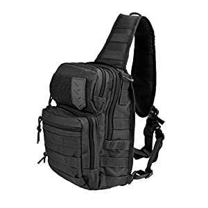 3V Gear Posse Tactical Sling Pack with Shoulder Sling for Everyday Carry Molle Multifunctional for Carrying Concealed Weapon