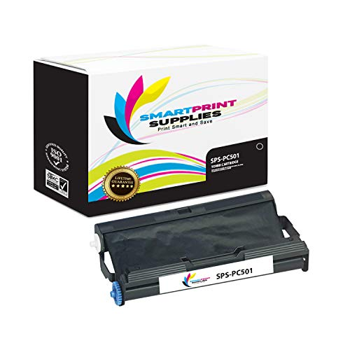 Smart Print Supplies Compatible Brother PC501 Black Ribbon Cartridge for Fax 575 Printer 5M Characters ()