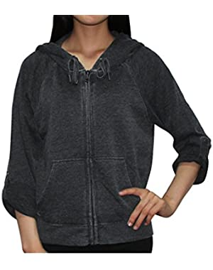 Calvin Klein Performance Womens Casual Super Soft Zip-Up Hoodie / Jacket