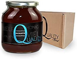 Miel pura de abeja 100%. Miel cruda de Eucalipto. 1 Kg. Producida ...
