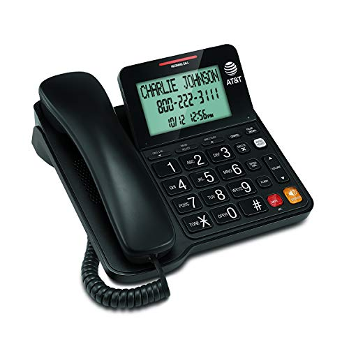 AT&T CL2940 Corded Phone with Caller ID/Call waiting, Speakerphone, XL Tilt Display, XL Buttons & Audio Assist Volume…