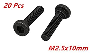xjs Black Oxide Strength Grade12.9 Carbon Steel Shoulder Screw 20 Pcs by xjs