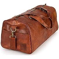 Berliner Bags Oslo XL Weekender Leder Reisetasche 40l Handgepäck Qualität Vintage Design Damen Herren Braun Groß 60 cm