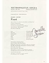 Mirella Freni - Program Signed