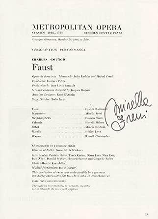 Mirella Freni - Program Signed