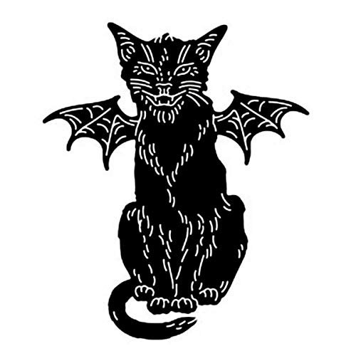 TOOGOO Halloween Style Metal Cutting Dies Stencil Metal Template for DIY Scrapbook Album Paper Card Cat Demon -