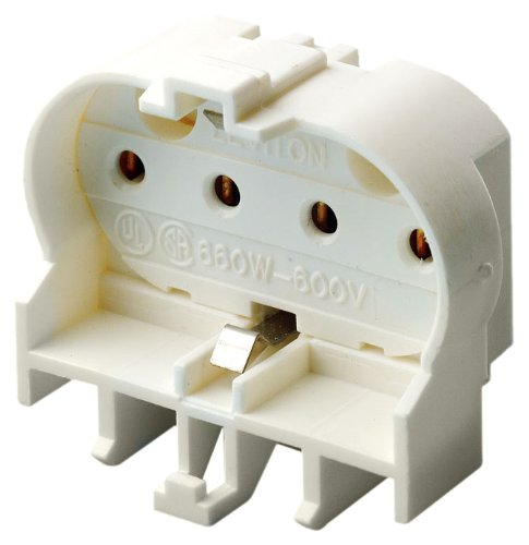 Leviton 23454 2G11 Base, 4-Pin, Twin Tube Fluorescent Lampholder, White