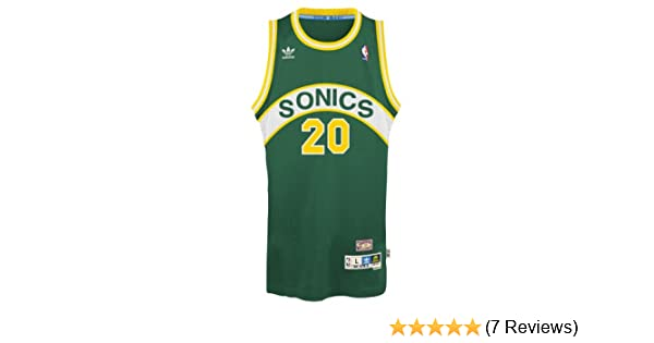 f0953b3254f4 Amazon.com   Gary Payton Seattle Supersonics Adidas NBA Throwback Swingman  Jersey - Green   Sports Fan Jerseys   Sports   Outdoors