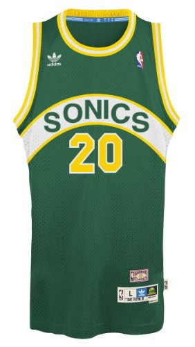Gary Payton Seattle Supersonics Adidas NBA Throwback Swingman Jersey - (Green Throwback Jersey)