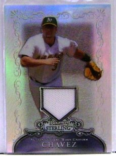 2006 Bowman Sterling Refractor Eric Chavez Jersey 41/199
