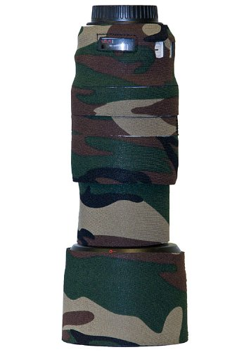 LensCoat Lens Cover for Canon 70-300mm f/4-5.6L IS USM camouflage neoprene camera lens protection (Forest Green Camo)