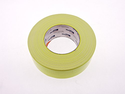 PC-619 Shurtape 2'' Yellow Bright Fluorescent Neon Colored 9 Mil Cloth Duct Tape Water UV Tear Resistant 60yd USA Made Colors High Visibility Safety Warning Marking by Shurtape (Image #1)