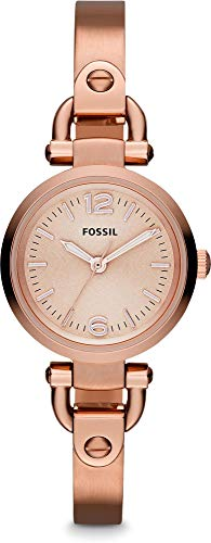 (Fossil Women's Georgia Mini Quartz Stainless Steel Dress Watch, Color: Rose Gold (Model: ES3268))