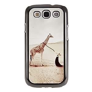 HC-Tirando del modelo de la jirafa Espejo Liso nuevo caso duro con HD de pantalla de Cine 3 piezas para Samsung Galaxy S3 I9300