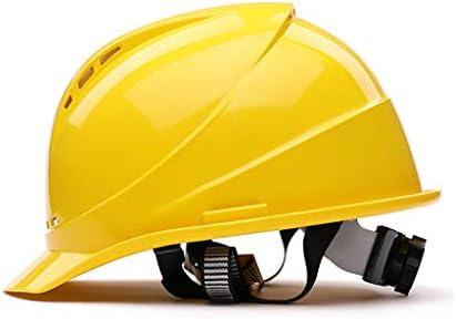 LCSHAN 高強度ABSヘルメット工事現場換気工学キャップ (Color : Yellow)