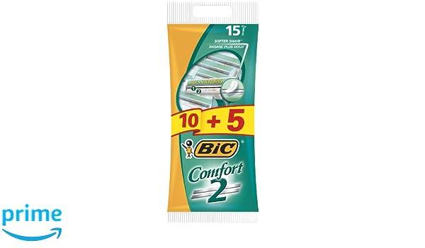 BIC Comfort 2 Shaver Maszynka do golenia 15szt: Amazon.es: Belleza
